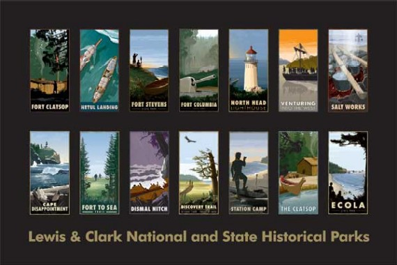 Poster: Lewis & Clark National and State Historical Parks